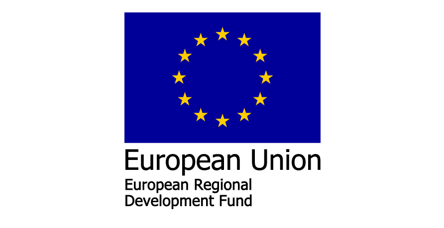 European union, European Regional Development Fund.